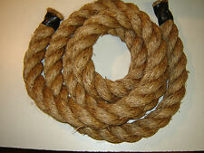 "2"" Manila Rope Brown Climbing WORKOUT ROPE By the foot SHIPPING INCLUDED"