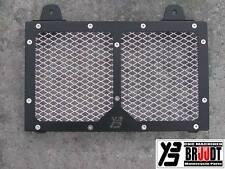 BRUUDT Kühlerabdeckung Schwarz/Silber für Yamaha MT03 MT 03 MT-03 alle Baujahren