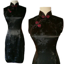 Chinese Evening Party cocktail Dress Qipao Cheongsam size US  8 Black