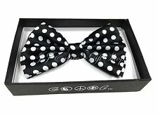 NEW Black Polka Dots Tuxedo Classic BowTie Neckwear Adjustable Men's Bow Tie