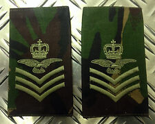 Genuine British Army FLIGHT SERGEANT AIRCREW Rank Slides / Epaulette - Brand NEW