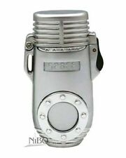 Nibo Space 16 Triple Flame Torch Lighter Silver