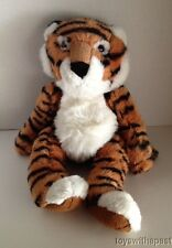"Russ TICKLES TIGER Bengal 16"" Large Plush Bean Bag Heavy Stuffed Animal"