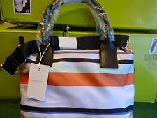 BRAND NEW WITH TAGS TED BAKER SENLEY MULTI STRIPE NYLON TOTE BAG
