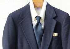 Bullocks Wilshire 38S Vintage Navy Blue Soft Cashmere Sport Coat - USA