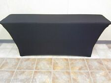8 ft  Black,Spandex  Table Cover,event,cater,linens,craft/tradeshow,DJ,reception