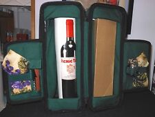 NWT! PICNIC TIME ESTATE WINE TOTE FOR 2, HOLDS LARGE BOTTLE THERMO INSULATION