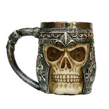 3D Skull Gothic Ossuary Beer Mug Striking Warrior Tankard Viking Drinking Cup