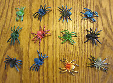 "15 NEW TOY SPIDERS FAKE CREEPY SPIDER HALLOWEEN PROP 2"" SIZE PARTY FAVOR PRANK"