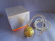 Prescriptives Calyx Solid Perfume Necklace Mint Condition in Box Pendant RARE