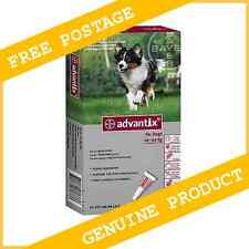6 Pack  Bayer Advantix K9 For Large Dogs 10-25kg Exp. 02/2017      FREE POSTAGE