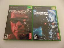 Terminator 3 Rise of the Machines and Dawn of Fate Original XBOX Games Lot