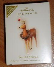 Hallmark PEACEFUL ANIMALS Christmas Ornament 2007 NIB Deer w/Cardinal