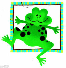 "6"" FROG TOAD  INSECT BUG  NURSERY  CHARACTER WALL SAFE FABRIC DECAL  CUT OUT"