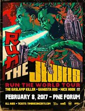 """RUN THE JEWELS """"RUN THE WORLD TOUR"""" 2017 VANCOUVER CONCERT POSTER -Hip Hop Music"""