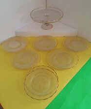 Glass Wedding Party Cake Stand with 12 Plates (Lyre)