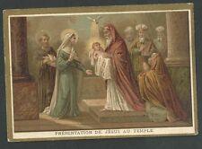 Estampa antigua Presentacion de Jesus al Templo andachtsbild santino holy card
