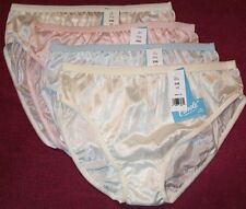 4 Pair Pastel 100% Nylon BIKINI PANTIES Size 6 USA Made