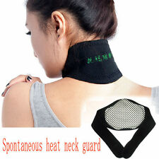 Heating Tourmaline Magnetic Neck Heat Therapy Support Belt Wrap Brace Pain KY