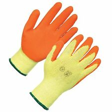 12 PAIRS WARRIOR ORANGE  GRIP  GLOVES  SIZE 9 LARGE