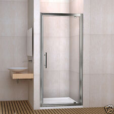 Aica 760X1850mm Pivot Hinge Shower Door Enclosure Screen Toughen Glass