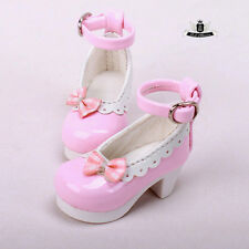 Yosd Shoes 1/6 BJD Shoes Tiny Pink Lolita bow Shoes Dollfie Luts Dollmore AOD DZ