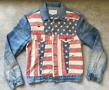 Denim & Supply Ralph Lauren Polo Flag Patch USA Jean Jacket RRL LARGE RL