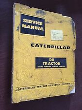 CATERPILLAR CAT CRAWLER D8 DOZER SERVICE MANUAL 36A 35A