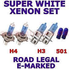 FITS MITSUBISHI LANCER SALON JF 2005+  SET H3  H4  501 XENON WHITE LIGHT BULBS