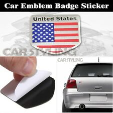 Auto Logo Car Badge Alloy Metal Emblem Decals Sticker US USA American Flag
