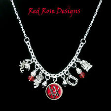 ~VAMPIRE ACADEMY THEMED STATEMENT CHARM NECKLACE~