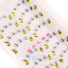 10Pair Handmade Natural Thick Lower Under Bottom Fake False Eye Lashes Eyelashes