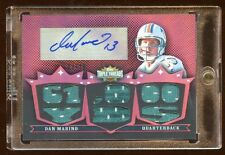 2007 TRIPLE THREADS DAN MARINO AUTO #D /18 GAME JERSEY 8X PIECE GAME JERSEY  HOF