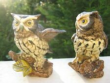 Vintage Porcelain Owl Figurines -  Norleans Japan