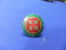 vtg badge epcc crusaders cross Jerusalem cross fraternity fraternal knights