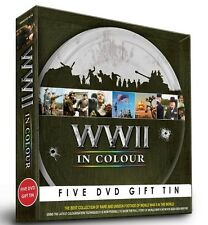 WWII IN COLOUR COMMEMORATION GIFT TIN 5 DVDs 13 FILMS ROBERT POWELL WORLD WAR 2