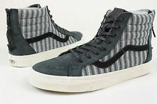 VANS SK8 HI ZIP CA ITALIAN WEAVE NUBUCK VN-XH9HUG MENS SZ 9 SHOES NEW