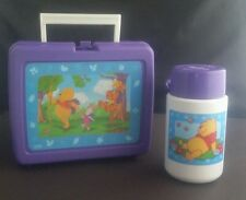 Winnie the Pooh Honey Picnic Camp Vtg Purple THERMOS Lunch Box Piglet Tigger