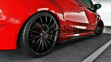 SIDE SKIRTS SPLITTERS (GLOSS BLACK) FORD FIESTA MK7 ST & ZETEC S 2008 - UP