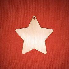10 pcs 6cm V- STAR  CHRISTMAS WOODEN SHAPE CRAFT DESIGN HANGING TAG