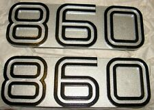 1974-78 Ducati 860GT 860 GT NOS pair of side cover emblem badges silver