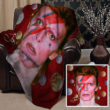 BOWIE 1 DESIGN SOFT PICNIC THROW BLANKET COVER DAVID GREAT GIFT IDEA