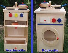 Kinder Holzspielküche Kochset, Waschmaschine neu als Geschenk, MS0032