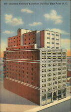 High Point NC Southern Furniture Expo Bldg Postcard