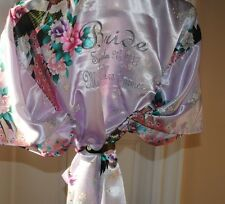 Personalised Bride, bridesmaid, Satin Robe,Dressing Gown wedding robes SETX11
