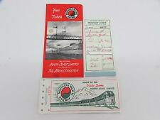 1963 Northern Pacific Railway North Coast Limited Ticket Book Brochure