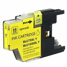 2 Pack of Quality YELLOW Ink Cartridges for BROTHER LC75Y, LC71Y