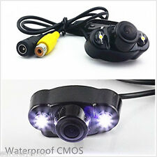 12V 170° Wide Night Vision HD Car SUV Reversing Rearview Parking Camera Dual LED