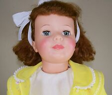 Ideal Pattie Playpal Doll Auburn Curly Top Hair with Blue Green Eyes 35""