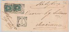 ITALIA REGNO:   LETTERA con annullo TONDO / QUADRO di Bagnolo Mella 1896